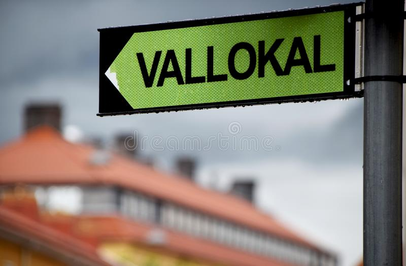 Σημάδι σταθμών ψηφοφορίας σε σουηδικά στοκ εικόνες με δικαίωμα ελεύθερης χρήσης