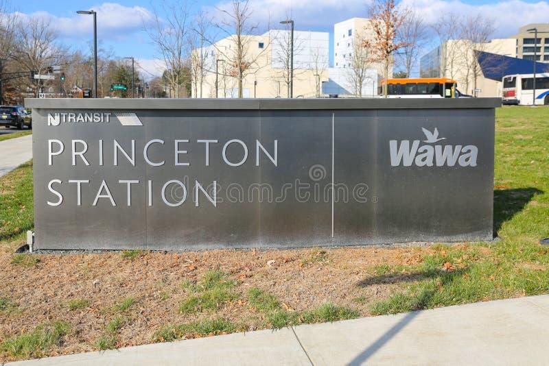 Σημάδι σταθμών Princeton στοκ φωτογραφίες με δικαίωμα ελεύθερης χρήσης