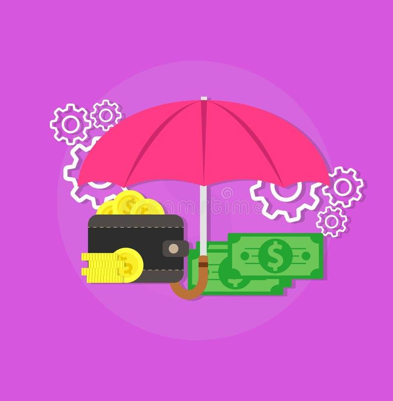 Σημάδι συμβόλων μετρητών νομίσματος χρημάτων Χρηματοδότηση ασφάλειας τραπεζικών δολαρίων οικονομίας Εικονίδιο έννοιας πληρωμής ει απεικόνιση αποθεμάτων