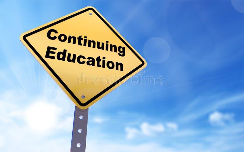 Σημάδι συνεχιμένος εκπαίδευσης διανυσματική απεικόνιση