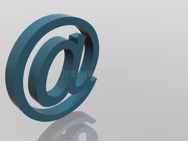 σημάδι ταχυδρομείου Διαδικτύου απεικόνιση αποθεμάτων