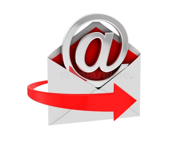σημάδι ταχυδρομείου ε απεικόνιση αποθεμάτων