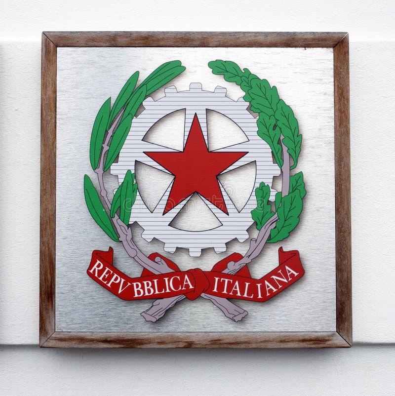 Σημάδι της Ιταλικής Δημοκρατίας στοκ εικόνα με δικαίωμα ελεύθερης χρήσης