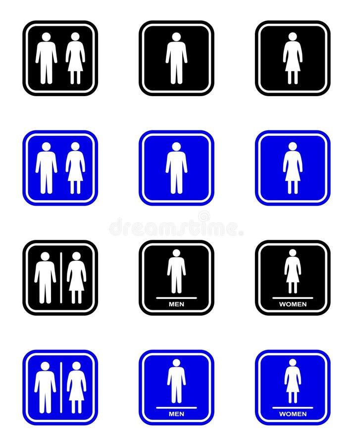 Σημάδι τουαλετών ελεύθερη απεικόνιση δικαιώματος