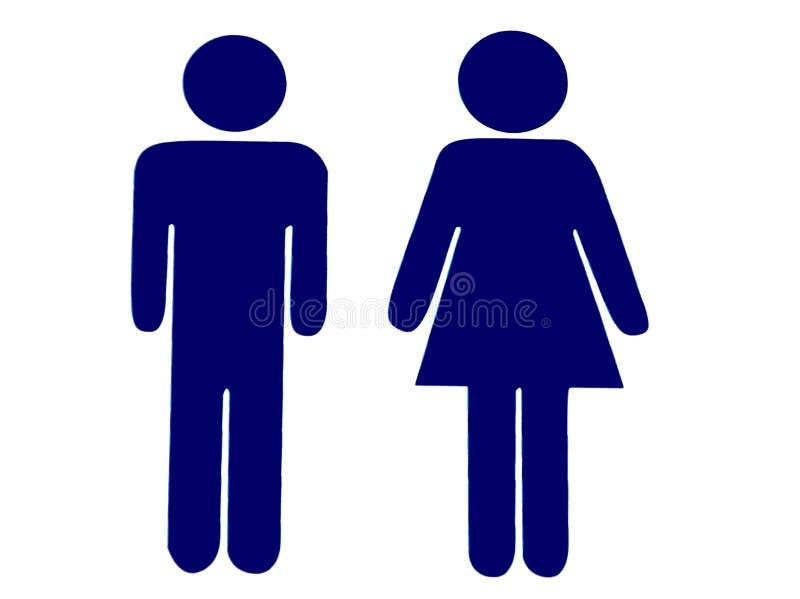 Σημάδι τουαλετών διανυσματική απεικόνιση