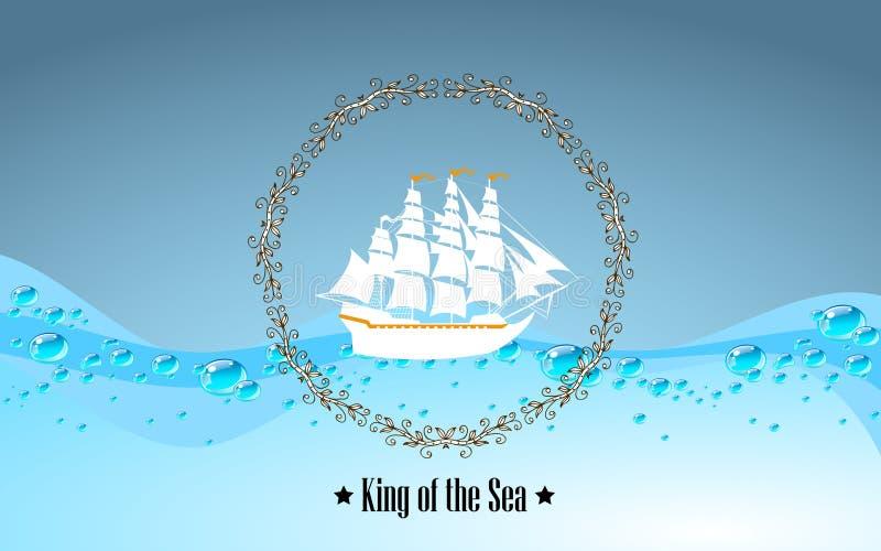 Σημάδι του βασιλιά της θάλασσας ελεύθερη απεικόνιση δικαιώματος