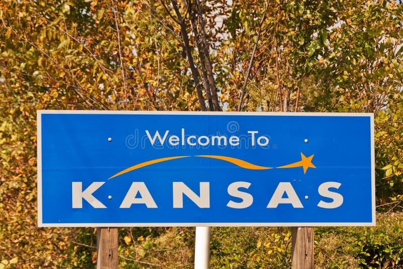 σημάδι του Κάνσας στην υποδοχή στοκ φωτογραφία με δικαίωμα ελεύθερης χρήσης