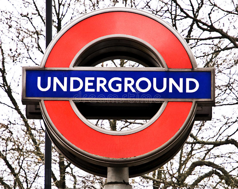 σημάδι του Λονδίνου υπόγ&e