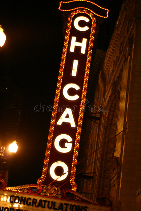 σημάδι του Σικάγου στοκ φωτογραφίες με δικαίωμα ελεύθερης χρήσης