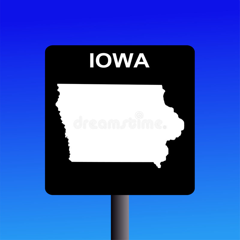 σημάδι του Iowa εθνικών οδών απεικόνιση αποθεμάτων