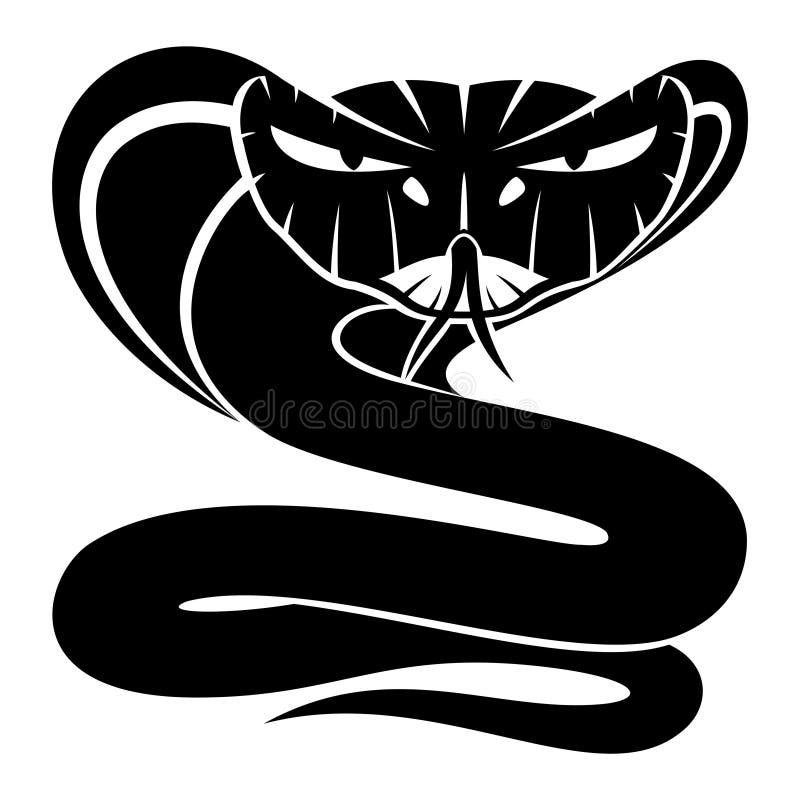 Σημάδι φιδιών Cobra ελεύθερη απεικόνιση δικαιώματος