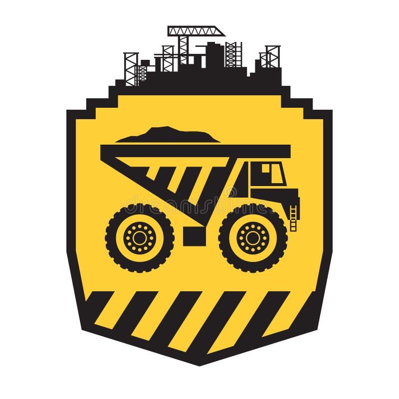 Σημάδι φορτηγών απορρίψεων απεικόνιση αποθεμάτων