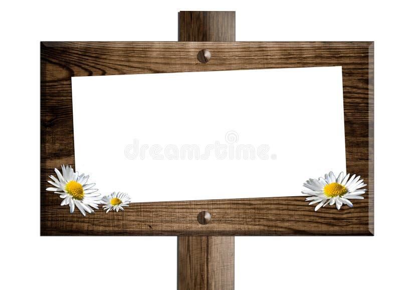 σημάδι χαρτονιών ξύλινο στοκ εικόνες