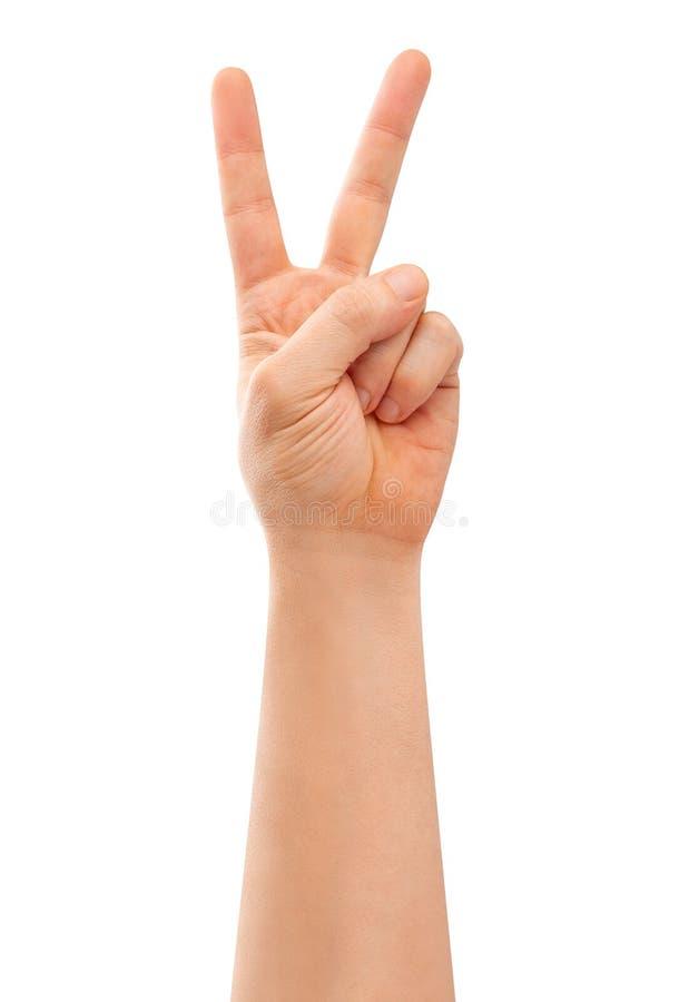 Σημάδι χεριών νίκης στοκ φωτογραφίες