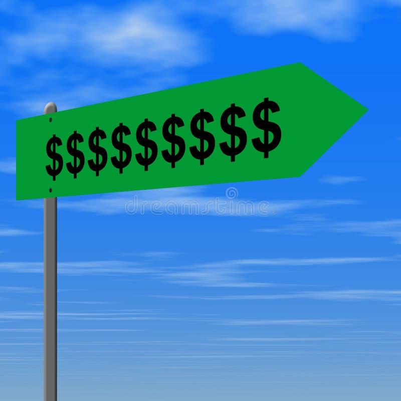 σημάδι χρημάτων απεικόνιση αποθεμάτων