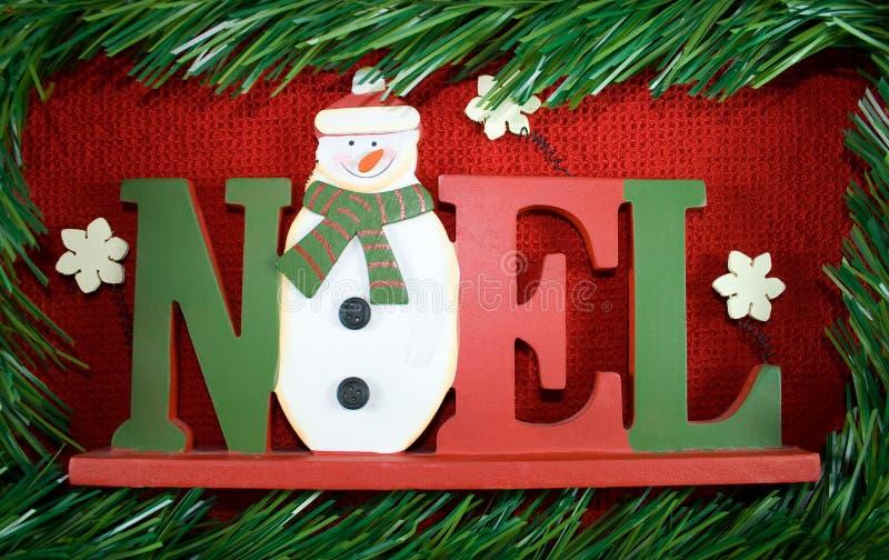 σημάδι Χριστουγέννων noel στοκ φωτογραφία