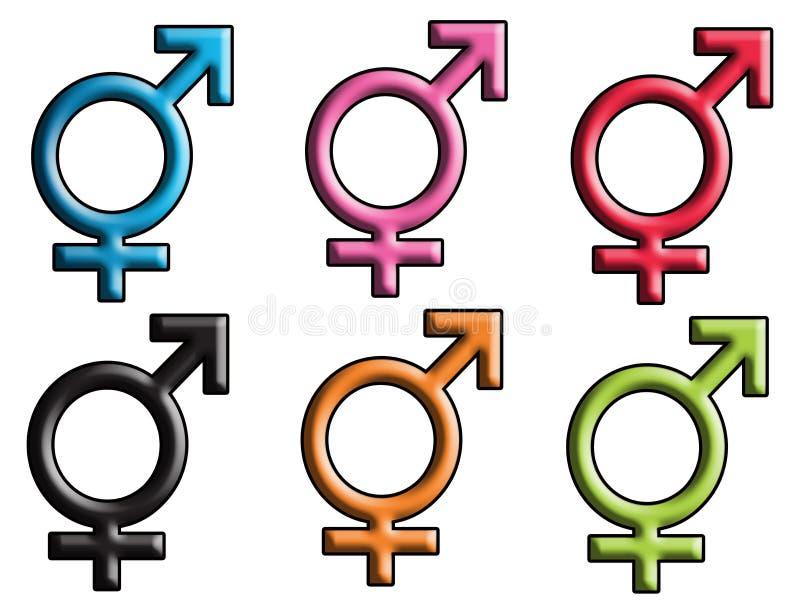 σημάδι 3 φύλων Στοκ εικόνα με δικαίωμα ελεύθερης χρήσης