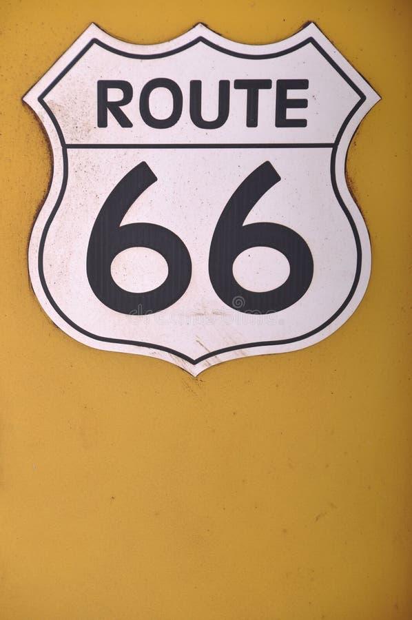 σημάδι 66 διαδρομών στοκ φωτογραφία με δικαίωμα ελεύθερης χρήσης