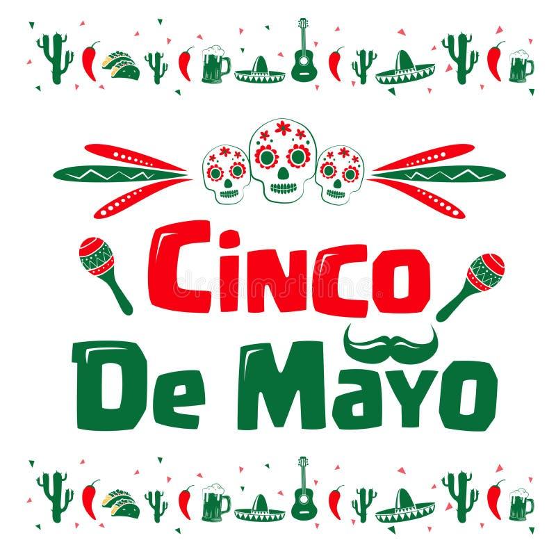 Σημάδι Cinco de Mayo απεικόνιση αποθεμάτων