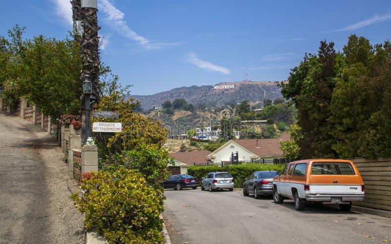 Σημάδι Hollywood, λόφοι, Hollywood, Λος Άντζελες, Καλιφόρνια, Ηνωμένες Πολιτείες της Αμερικής, Βόρεια Αμερική στοκ εικόνα