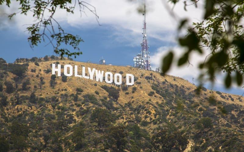 Σημάδι Hollywood, λόφοι, Hollywood, Λος Άντζελες, Καλιφόρνια, Ηνωμένες Πολιτείες της Αμερικής, Βόρεια Αμερική στοκ φωτογραφίες