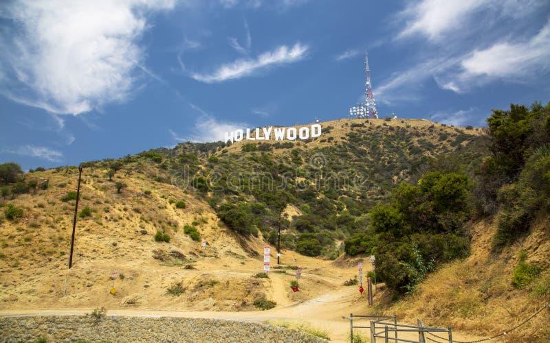 Σημάδι Hollywood, λόφοι, Hollywood, Λος Άντζελες, Καλιφόρνια, Ηνωμένες Πολιτείες της Αμερικής, Βόρεια Αμερική στοκ φωτογραφία με δικαίωμα ελεύθερης χρήσης