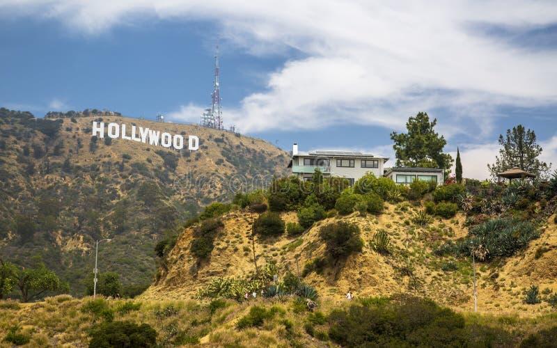 Σημάδι Hollywood, λόφοι, Hollywood, Λος Άντζελες, Καλιφόρνια, Ηνωμένες Πολιτείες της Αμερικής, Βόρεια Αμερική στοκ φωτογραφία