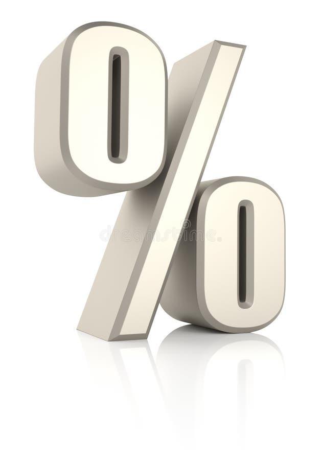 Σημάδι Ioslated τοις εκατό στο άσπρο υπόβαθρο ελεύθερη απεικόνιση δικαιώματος