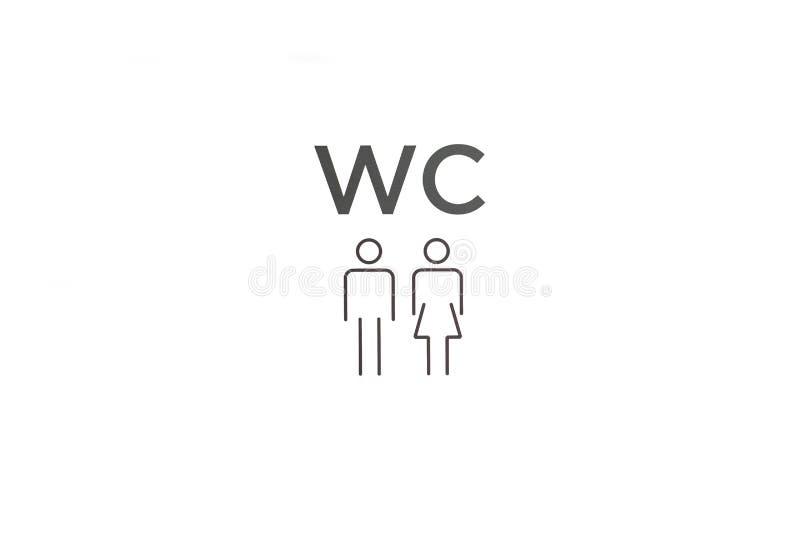 Σημάδι WC Σημάδι ή προσδιορισμός της τουαλέτας απεικόνιση αποθεμάτων