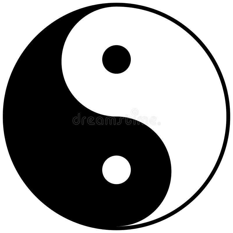 Σημάδι yin-Yang εικονιδίων ελεύθερη απεικόνιση δικαιώματος