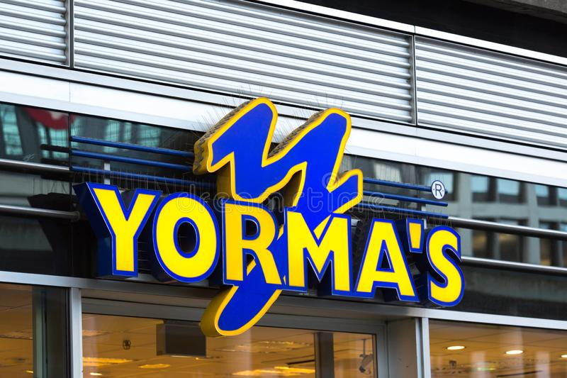 Σημάδι Yormas στην Κολωνία Γερμανία στοκ φωτογραφίες