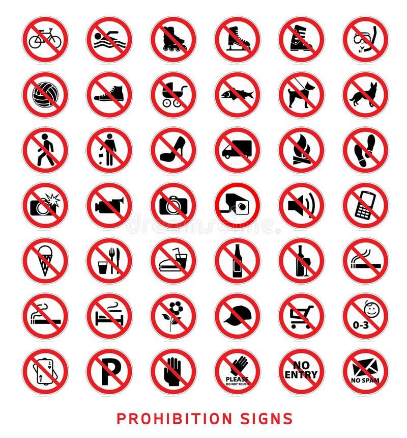 Σημάδια απαγόρευσης απεικόνιση αποθεμάτων