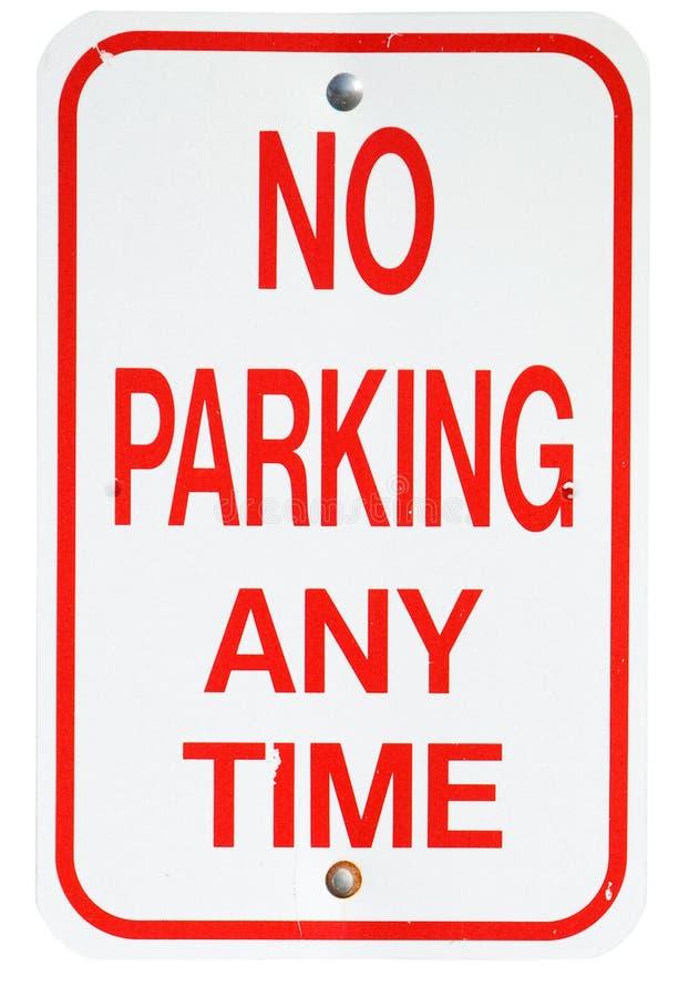 Σημάδια: Κανένας χώρος στάθμευσης οποτεδήποτε στοκ εικόνες με δικαίωμα ελεύθερης χρήσης