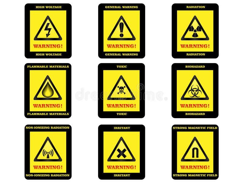 Σημάδια κινδύνου προειδοποίησης στοκ εικόνες με δικαίωμα ελεύθερης χρήσης
