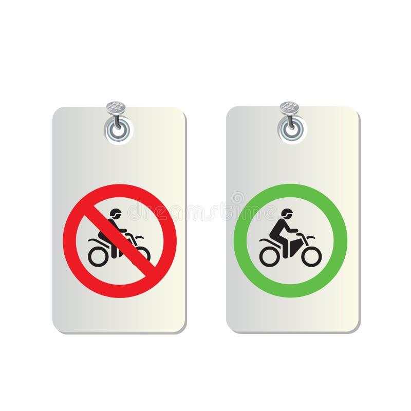 Σημάδια μοτοσικλετών απεικόνιση αποθεμάτων