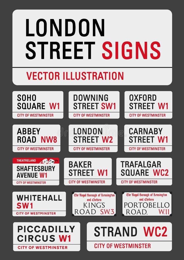 Σημάδια οδών του Λονδίνου ελεύθερη απεικόνιση δικαιώματος