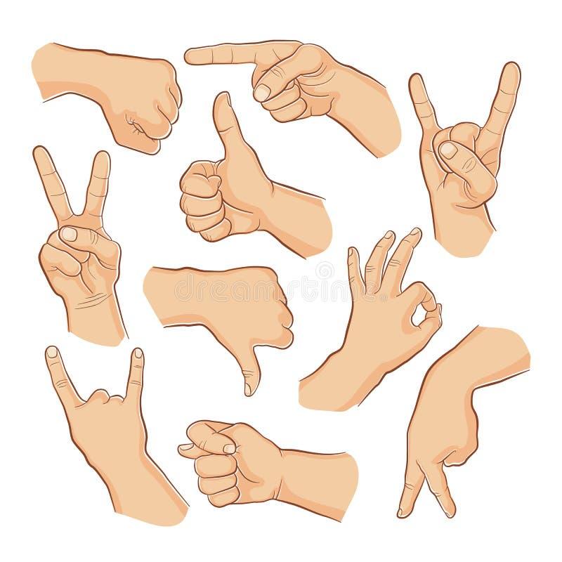 Σημάδια χεριών ελεύθερη απεικόνιση δικαιώματος