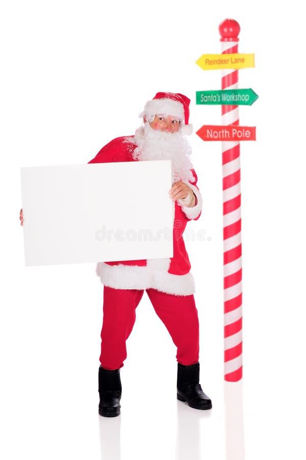 Σημάδια Santa στοκ εικόνα