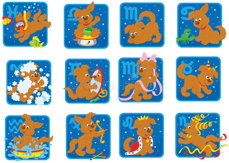σημάδια zodiacal διανυσματική απεικόνιση