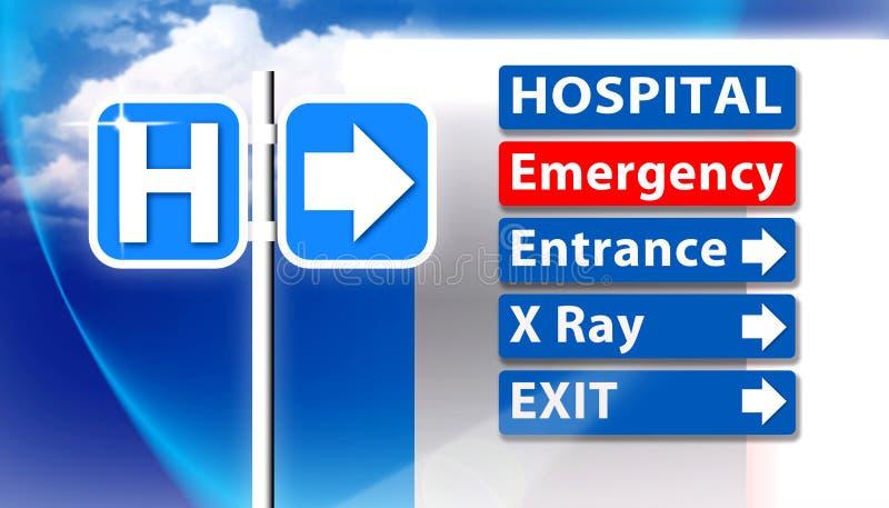Σημάδι έκτακτης ανάγκης νοσοκομείων απεικόνιση αποθεμάτων