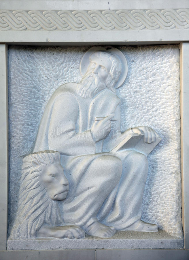 Σημάδι Αγίου ο Ευαγγελιστής στοκ εικόνες