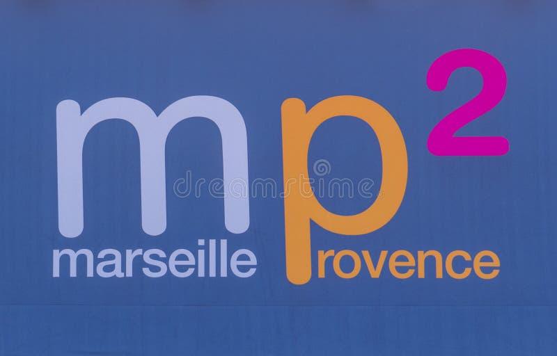 Σημάδι αερολιμένων της Μασσαλίας Προβηγκία στοκ εικόνα με δικαίωμα ελεύθερης χρήσης
