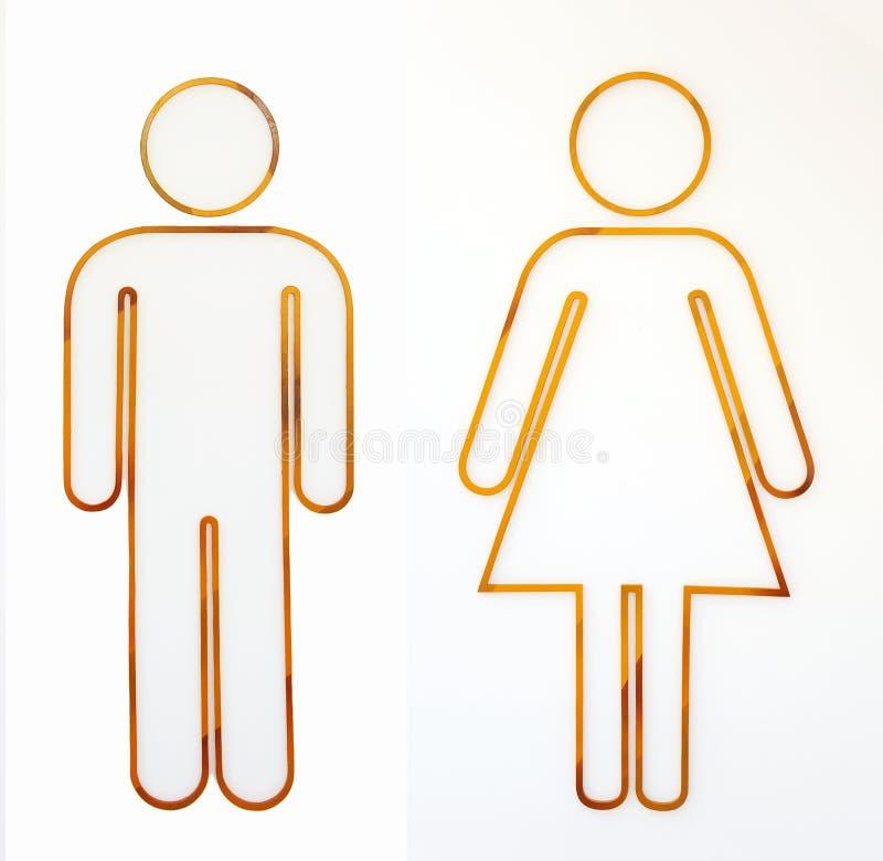 Σημάδι ανδρών και γυναικών στοκ εικόνες με δικαίωμα ελεύθερης χρήσης