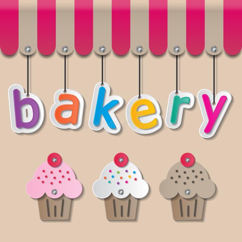 Σημάδι αρτοποιείων shopfront απεικόνιση αποθεμάτων