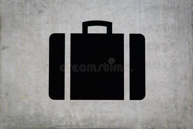 Σημάδι βαλιτσών στην αξίωση αποσκευών στοκ φωτογραφίες με δικαίωμα ελεύθερης χρήσης