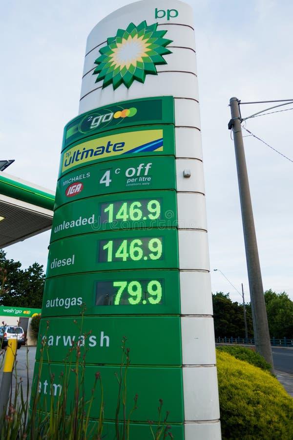 Σημάδι βενζίνης της BP στοκ εικόνα με δικαίωμα ελεύθερης χρήσης