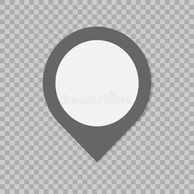 Σημάδι δεικτών σημαδιών Επίπεδο εικονίδιο ύφους στο διαφανές υπόβαθρο Καθιερώνον τη μόδα επίπεδο ύφος για το γραφικό σχέδιο, ιστο απεικόνιση αποθεμάτων