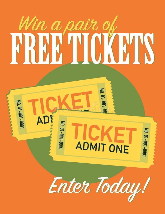 Σημάδι εισιτηρίων ελεύθερη απεικόνιση δικαιώματος