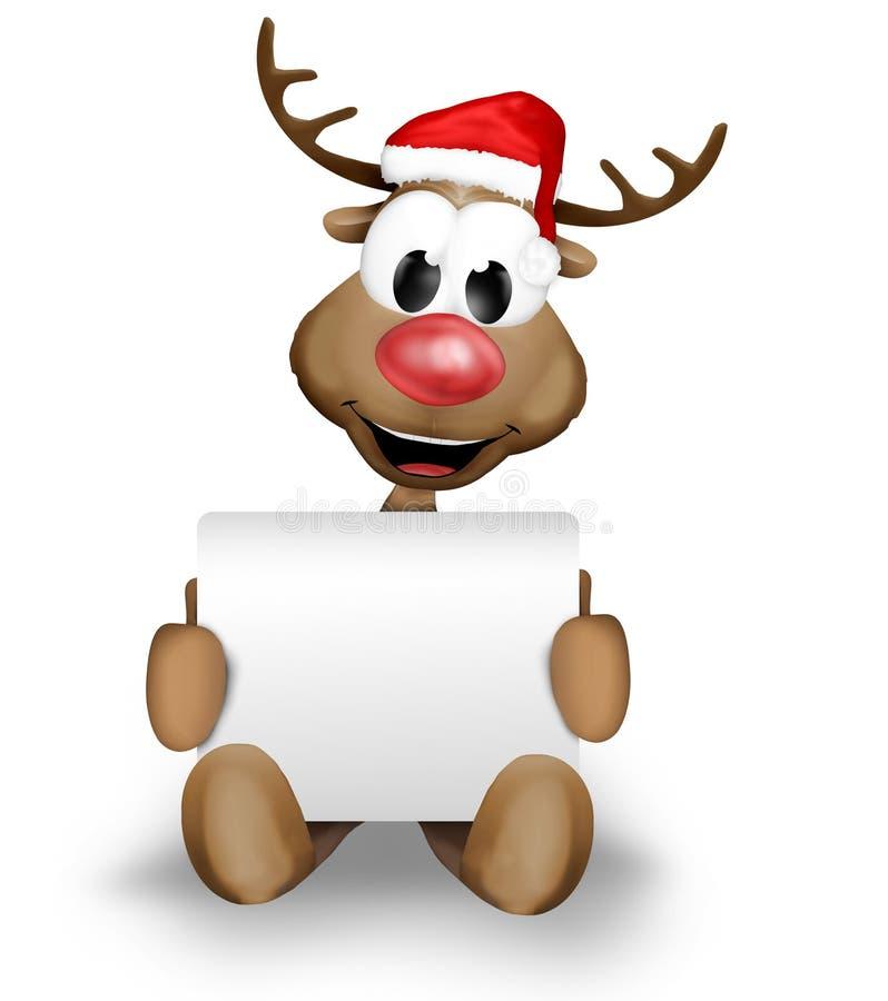 Σημάδι εκμετάλλευσης ταράνδων Χριστουγέννων απεικόνιση αποθεμάτων