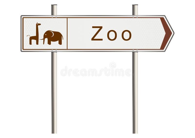 Σημάδι ζωολογικών κήπων απεικόνιση αποθεμάτων